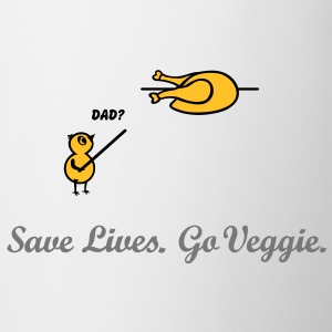 Save Lives, Go veggie Go Green. vegan vegetariano Magliette - Tazza