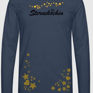 Starry Night. Party Outfit stars and hearts.  Aprons - Men's Premium Longsleeve Shirt