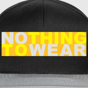 Nothing to wear T-shirt - Snapback Cap
