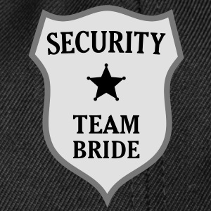 Security Team Bride T-Shirts - Snapback Cap