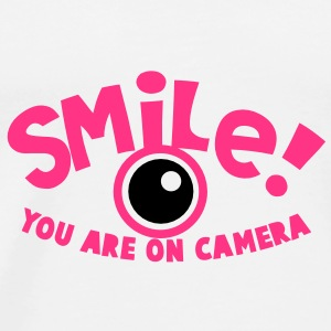 SMILE! you are on camera! photographer Bottles & Mugs - Men's Premium T-Shirt