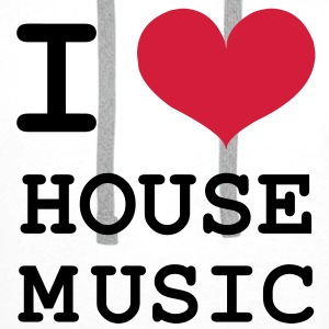 I Love House Music ! Tee shirts - Sweat-shirt à capuche Premium pour hommes