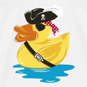 Pirate Rubber Duck with a pirate hat and eye patch Shirts - Men's Premium T-Shirt