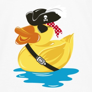 Pirate Rubber Duck with a pirate hat and eye patch Shirts - Men's Premium Longsleeve Shirt