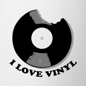 I Love Vinyl T-shirt - Tazza
