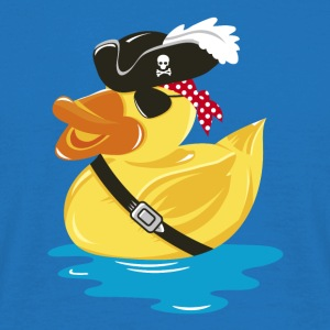 Pirate Rubber Duck with a pirate hat and eye patch Bags  - Men's T-Shirt