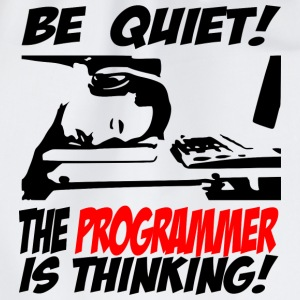 Be Quiet! The programmer is thinking - Drawstring Bag