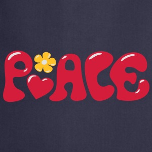 Peace - Flowerpower Love Happiness T-Shirts - Cooking Apron