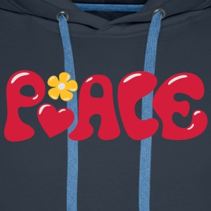 Peace - Flowerpower Love Happiness T-Shirts - Men's Premium Hoodie