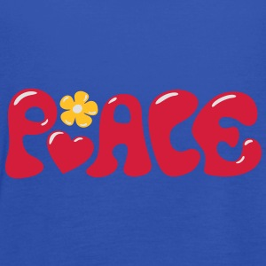 Peace - Flowerpower Love Happiness T-Shirts - Women's Tank Top by Bella