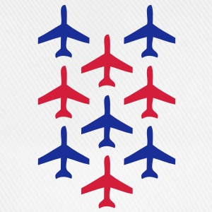 top guns blue and red planes in formation Shirts - Baseball Cap