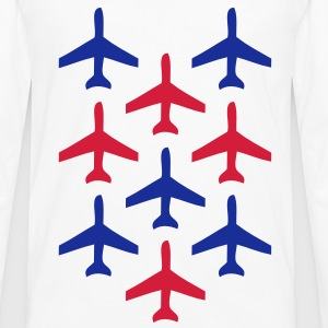 top guns blue and red planes in formation Shirts - Men's Premium Longsleeve Shirt