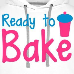 ready to bake with a tall cupcake! Shirts - Men's Premium Hoodie