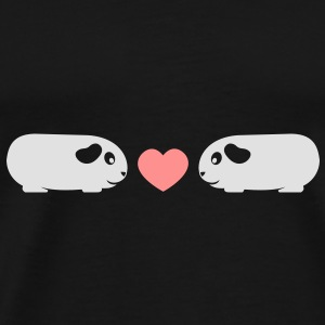'Piggie Love' Guinea Pig Umbrella - Men's Premium T-Shirt