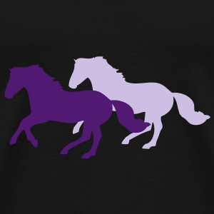 Two galloping horses - you can change all colours Felpe - Maglietta Premium da uomo