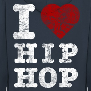 i_love_hiphop02_vintage_hell Hoodies & Sweatshirts - Men's Premium Hooded Jacket