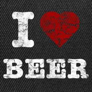 i_love_beer_vintage_hell T-shirts - Snapback cap