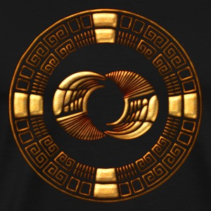 Maya Time-Wheel 2012 - crop circle - Silbury Hill Tröjor - Premium-T-shirt herr