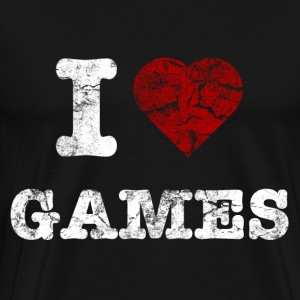 i love games vintage light Sweaters - Mannen Premium T-shirt