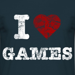 i love games vintage light Sweaters - Mannen T-shirt