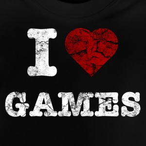 i love games vintage light Skjorter - Baby-T-skjorte