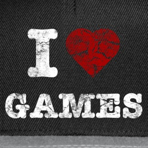 i love games vintage light Sweat-shirts - Casquette snapback