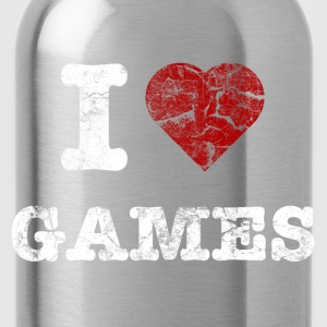 i love games vintage light Sacs - Gourde