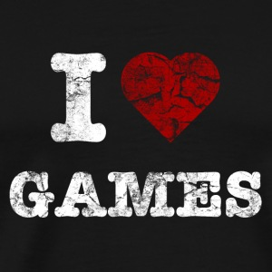 i love games vintage light Sacs - T-shirt Premium Homme