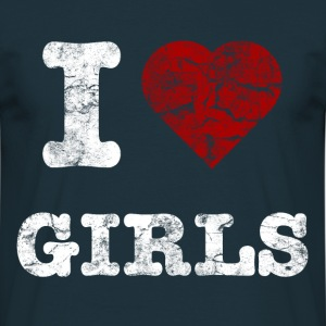 i_love_girls_vintage_hell Hoodies & Sweatshirts - Men's T-Shirt