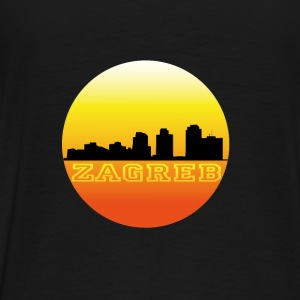 Zagreb by sunset Tröjor - Premium-T-shirt herr
