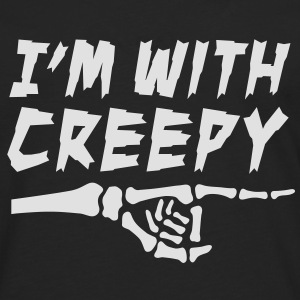 I'am with creepy Sweaters - Mannen Premium shirt met lange mouwen