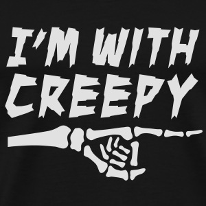 I'm with creepy Pullover & Hoodies - Männer Premium T-Shirt