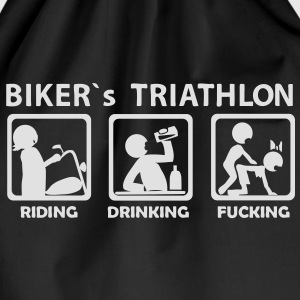 bikers triathlon eating drinking fucking T-Shirts  - Turnbeutel