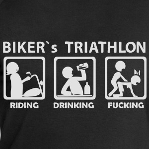 bikers triathlon eating drinking fucking Tee shirt - Sweat-shirt Homme Stanley & Stella