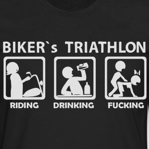 bikers triathlon eating drinking fucking Tee shirt - T-shirt manches longues Premium Homme