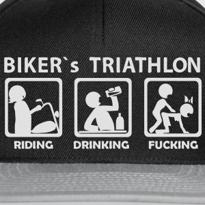 bikers triathlon eating drinking fucking budget - Snapback Cap