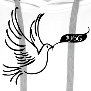 Dove of Peace med år 1966 T-skjorter - Premium hettegenser for menn