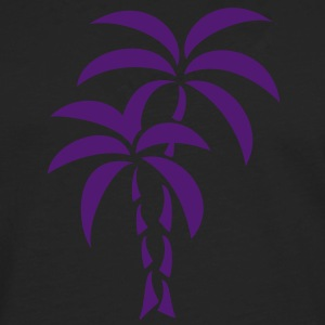 Palm Tree / Tattoo Style / Vector / Camisetas - Camiseta de manga larga premium hombre
