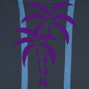 Palm Tree / Tattoo Style / Vector / T-shirts - Mannen Premium hoodie