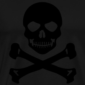 Pirate skull grin - Men's Premium T-Shirt