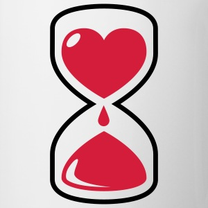 Love Time | Herz Sanduhr T-Shirts - Tasse