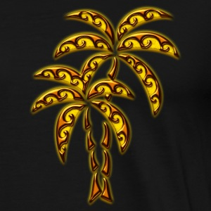 Palm Tree / Tattoo Style / DD / Tröjor - Premium-T-shirt herr