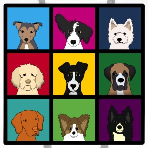 9 x dogs head colourful Bags  - Men's Premium Hoodie