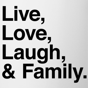 live love laugh and family Shirts - Mug