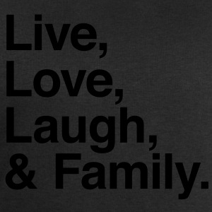 live love laugh and family Shirts - Men's Sweatshirt by Stanley & Stella