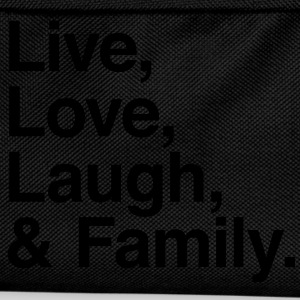 live love laugh and family Shirts - Kids' Backpack