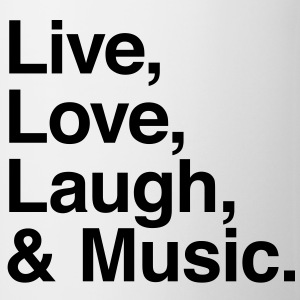 live love laugh and music Shirts - Mug