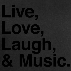 live love laugh and music Shirts - Men's Sweatshirt by Stanley & Stella