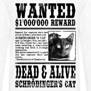 schrödinger's cat wanted black T-Shirts - Men's Premium Longsleeve Shirt