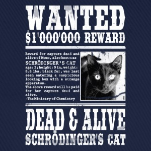 schrödinger's cat wanted white Shirts - Baseball Cap